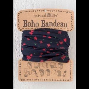 Natural Life Boho Headband Bandeau Red & Black